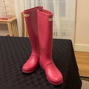 Original Hunter deep pink rain boots